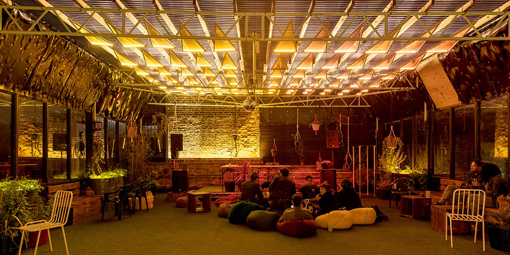 OPTELMA: Optelma Lights Dalston Roof Park
